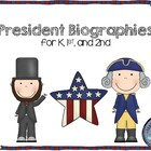 President Biography Research and Writing Project Kindergar