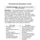 Presidential Baseball Cards