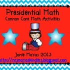 Presidential Math Common Core Activities