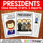 Presidents Day Close Reading &Writing Journals {Simply Kinder}