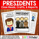 Presidents Day Close Reading & Writing