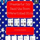 Presidents' Day Differentiated Sight Word Read the Room