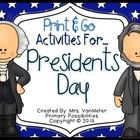 Presidents Day (Print & Go Activities)