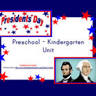 Presidents Day Unit for Preschool - Kindergarten
