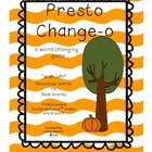 Presto Change-o: A Word Changing Game {K-3 Word Work}