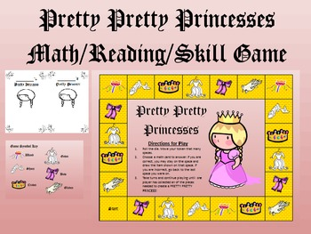 Pretty Princess Game-For ALL SUBJECTS!! Skill Review + Art
