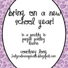 Pretty in Purple Paisley Beginning of the Year Packet