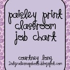 Pretty in Purple Paisley Job Chart