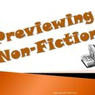 Previewing Non Fiction Reading Strategy PowerPoint