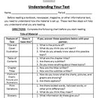 Previewing Nonfiction Text - Common Core Activity - Use wi