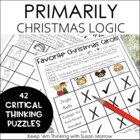 Primarily Christmas Logic Puzzles for Math and Literacy Skills