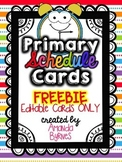 Primary Daily Schedule Cards FREEBIE