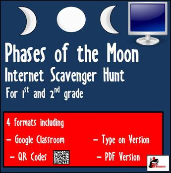 Internet Scavenger Hunt - Primary Grades - Phases of the Moon