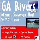 Internet Scavenger Hunt - Primary Grades - Rivers of Georgia