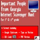 Internet Scavenger Hunts - Primary Grades - Important Georgians