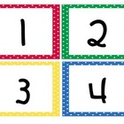 Primary Polka Dot Classrom  Numbers