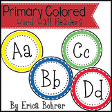 Primary Circle Frame Word Wall Headers