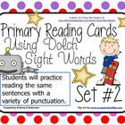 Primary Reading Cards with Punctuation!