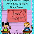 Primary Research Project with 5 Easy-to-Read State Books-I