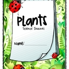 Primary Science journal activities on Plants