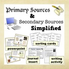 Primary & Secondary Sources Simplified – PPT + Printables bundle