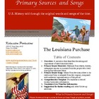 Primary Sources and Songs--Westward Expansion--The Louisia