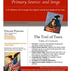 Primary Sources and Songs--Westward Expansion--The Trail of Tears