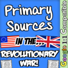 Primary Sources in the Causes of the American Revolution!