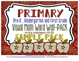 Primary - Visual Math Word Wall - {FREEBIE}