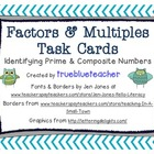 Prime & Composite Number Task Cards