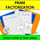 Prime Factorization Bingo and Task Cards, Common Core Alig