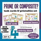 Prime or Composite? task cards + printables (set a) - Comm