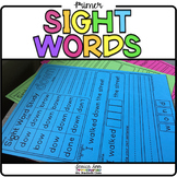 Primer Dolch Sight Word Packet