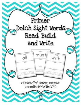 Primer Dolch Sight Word Read, Build, and Write