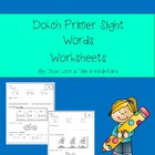 Primer Dolch Sight Word Worksheets