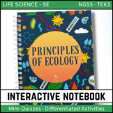 Life Science Interactive Notebook - Principles of Ecology