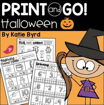 Print and Go! Halloween Math and Literacy