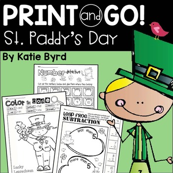Print and Go! St. Patrick's Day Math and Literacy
