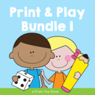 Print and Play Worksheets - Bundle 1