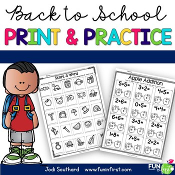 Print and Practice {Back to School}