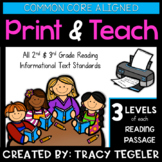 Print and Teach (CC Aligned) Reading Passages and Materials