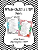 "Print of ""Whose Child Is This?"" Poem - Free Printable"