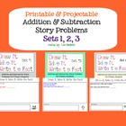 Printable Addition & Subtraction Story Problems SETS 1-3 (bundle)