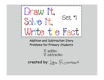 Printable Addition & Subtraction Story Problems Set 1 Prim