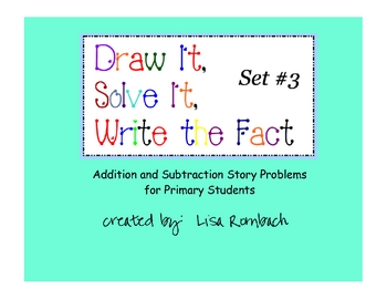 Printable Addition & Subtraction Story Problems Set 3 Prim
