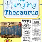 Printable Hanging Thesaurus for your Classroom- Synonyms f