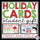 Printable Holiday Cards For Students: Perfect As A Christm