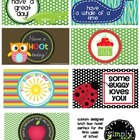 Printable Lunch box notes for Back to School