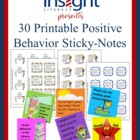 Printable Positive Behavior Sticky Notes