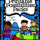 Printable Possibilities Packs ~ Kid Themed Foldables, Grap